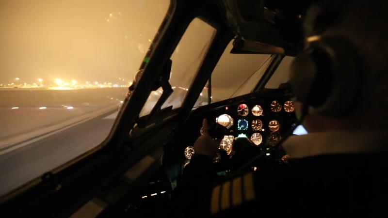 Посадка Ту-154 в Кольцово Tupolev Tu-154m Landing at USSS (Cockpit view)