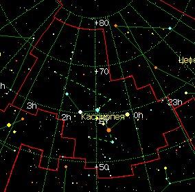 Карта на Касиопея