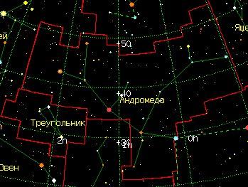 Карта на Андромеда