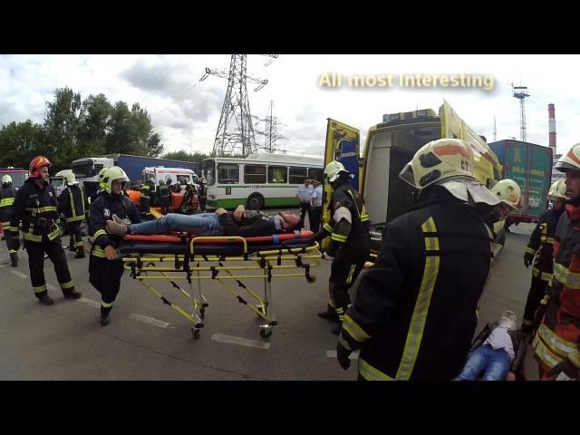Учения МЧС и ЦЭМП ДТП Москва Emergency service Kramskoy remix