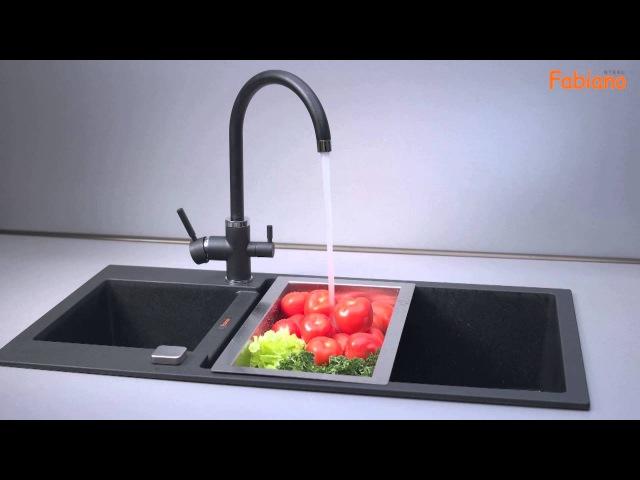 FabianoSteel FKM 31.3. Комбинированный кухонный смеситель.