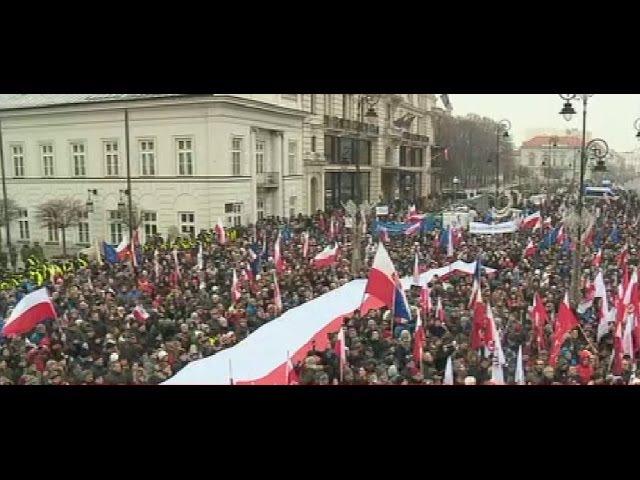 Demonstracja KOD pod Pałacem Prezydenckim 17 12 2016