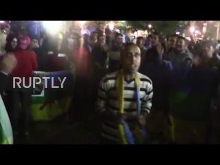 Марокко: Тысячи проходят маршем по Касабланке в знак протеста против смерти рыботорговец.