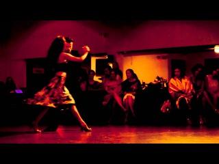 Claudia Cortes & Mauro Peralta MAQUILLAJE por Goyeneche at Tango Mio Los Angeles August 2013