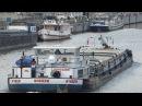 Bruxelles barge on Schelde river near Laken