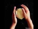 запеченое яблоко в тесте с белым шоколадом