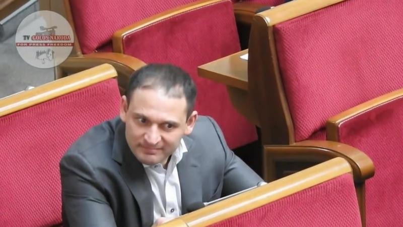 Украинский депутат обнюхался в Раде.