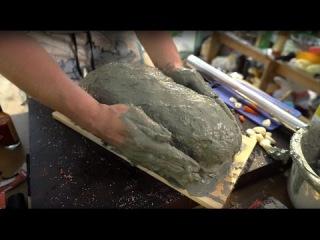 Мясо в глине запеченное в углях