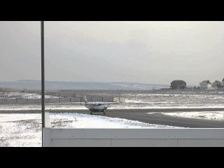 Посадка Cessna Grand Caravan в аэропорт Саратов-Центральный