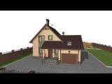 Проект типового дома с мансардой и гаражом Горка C-073-ТП