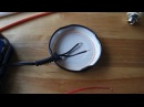 Home made cap piezo diddley bow pickup
