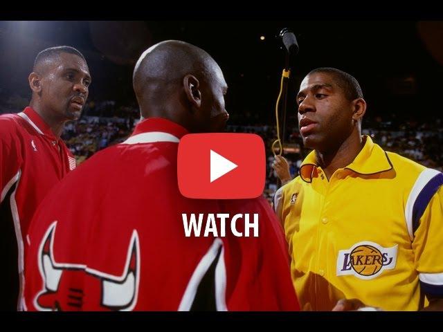 NBA Finals 1991. Chicago Bulls @ LA Lakers. Game 3. Jordan 2999, Magic 22106. Full game.