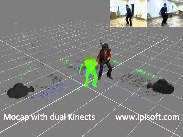 IPi Desktop Motion Capture with 2 Kinect