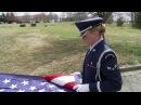 Honor Guard Team Demonstrate Proper Flag Folding Techniques