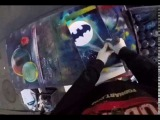 Batman in 1 minute Spray Paint by Amazing artist in Times Square, New York City skyline Aerosol Art