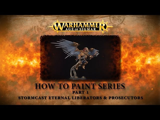 How to paint Warhammer Age of Sigmar part 1 - Stormcast Liberators Prosecutors.