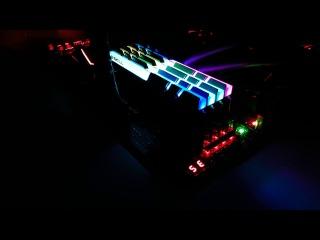 G.Skill TridentZ RGB DDR4 memory LED Example Video