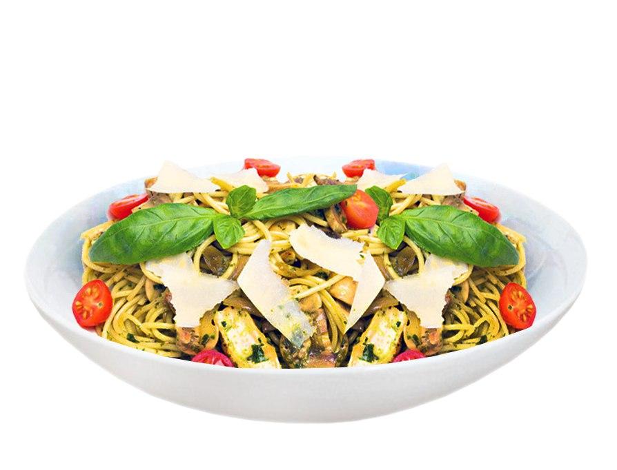 Заказать Спагетти с курицей и грибами с доставкой на дом в Серпухове, Суши-бар ТАЙХЕО