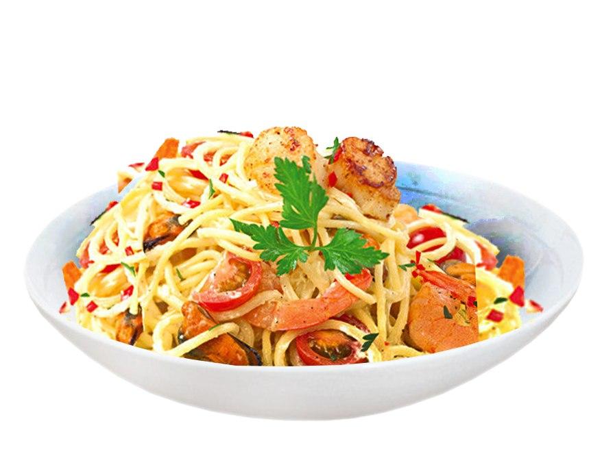 Заказать Спагетти с морепродуктами с доставкой на дом в Серпухове, Суши-бар ТАЙХЕО