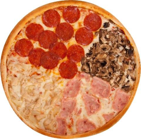 Заказать Ассорти 4 пиццы с доставкой на дом в Серпухове, Суши-бар ТАЙХЕО