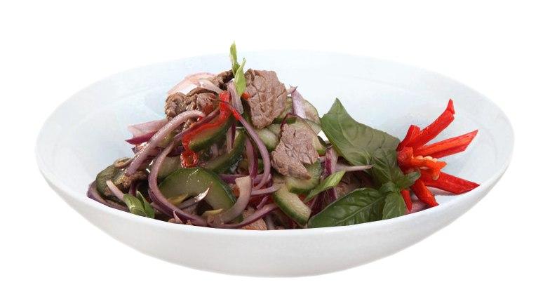 Заказать Салат теплый с говядиной с доставкой на дом в Серпухове, Суши-бар ТАЙХЕО