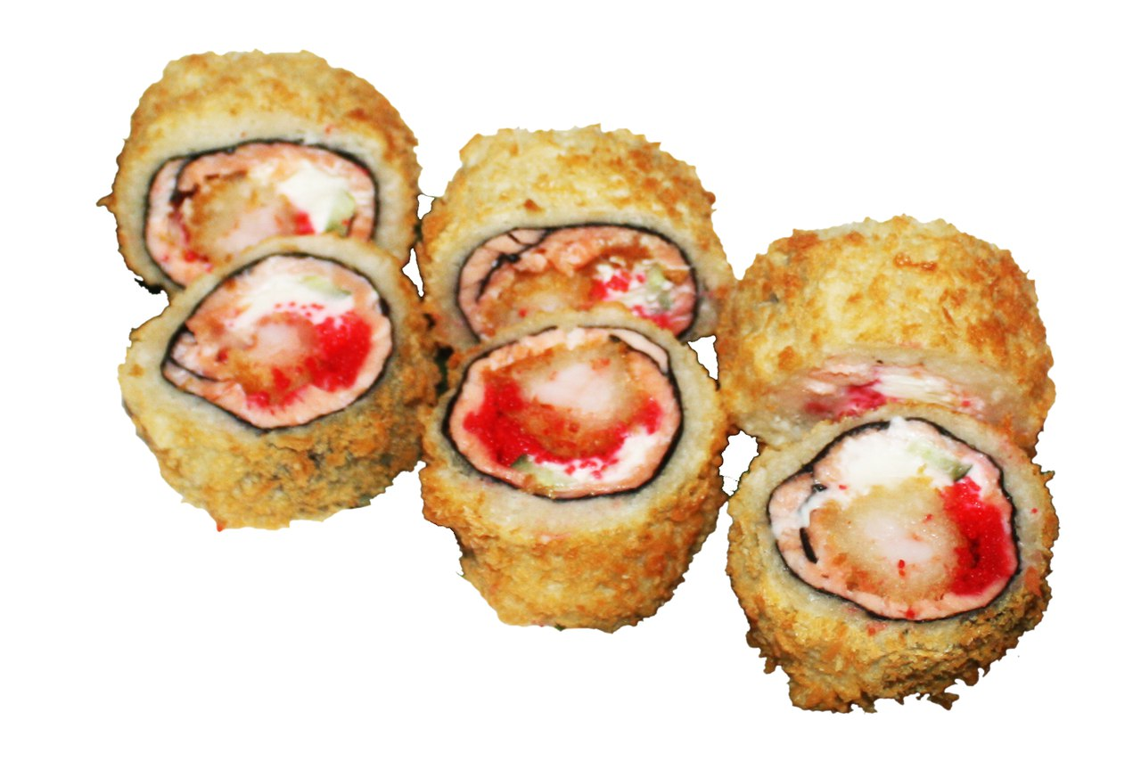 Заказать Ролл Жаренный (без риса) с лососем с доставкой на дом в Серпухове, Суши-бар ТАЙХЕО
