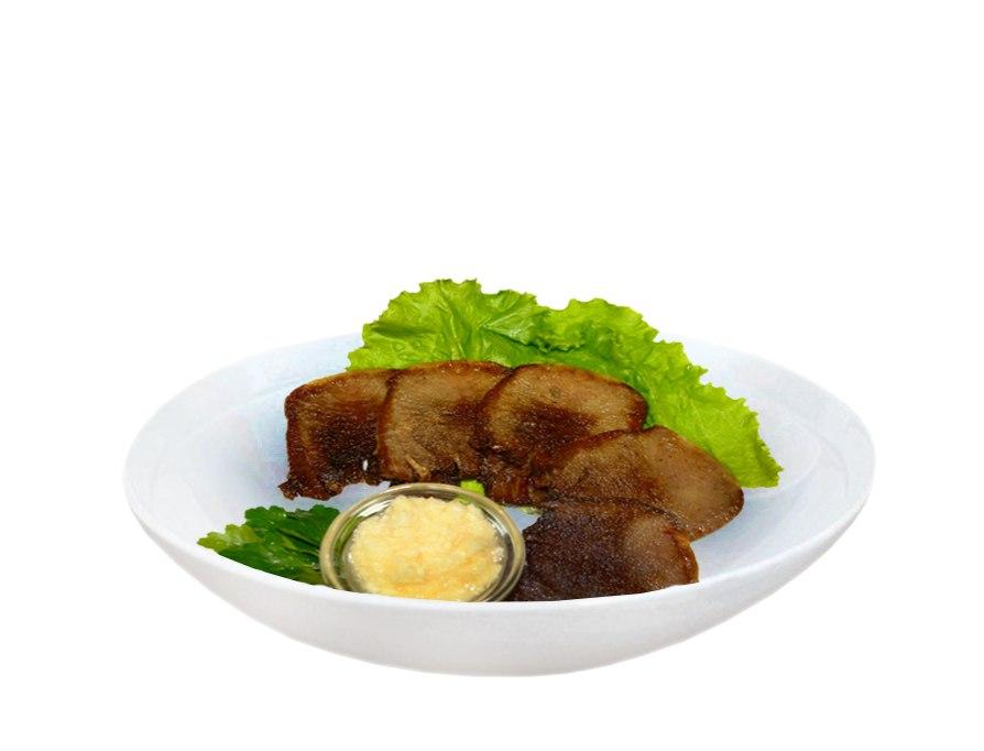 Заказать Язык говяжий с чесночным соусом с доставкой на дом в Серпухове, Суши-бар ТАЙХЕО