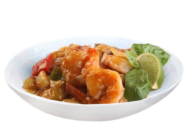 Заказать Креветки в остром соусе с доставкой на дом в Серпухове, Суши-бар ТАЙХЕО