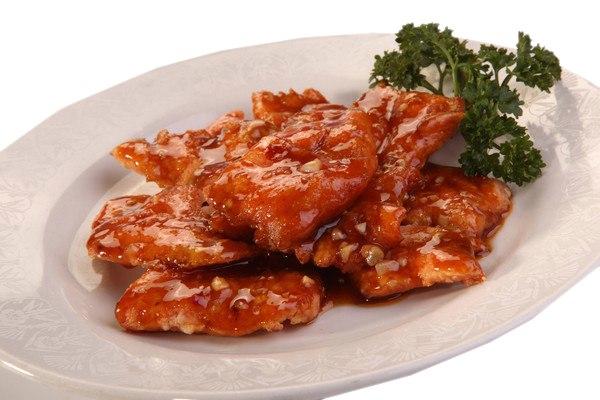 Заказать Лосось в кисло-сладком соусе с доставкой на дом в Серпухове, Суши-бар ТАЙХЕО