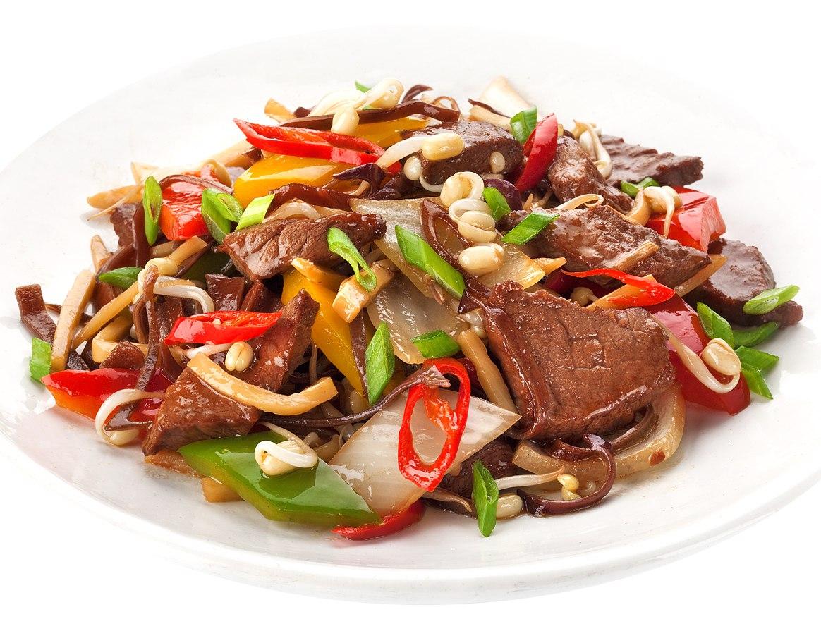Заказать Острая говядина с овощами с доставкой на дом в Серпухове, Суши-бар ТАЙХЕО