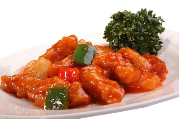 Заказать Свинина в кисло-сладком соусе с доставкой на дом в Серпухове, Суши-бар ТАЙХЕО
