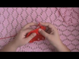 AlinaVjazet ажурный плед крючком Листья. Мастер-класс. Узор подходит для вязания шали