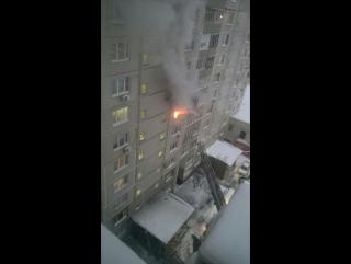 13.01.2017 Пожар на Старобитцевской, 21, к.1.