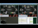 Покер NL50 live 2 tables bonus video by PLENO1
