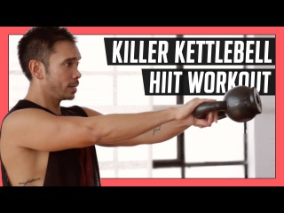 10 Minute Killer Kettlebell Workout for an Efficient HIIT Total Body Workout // Mike Donavanik