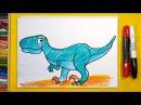 Как нарисовать Динозавра ВЕЛОЦИРАПТОР Урок рисования для детей от 3 лет