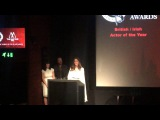 Kate Beckinsale accepting the award for Best British / Irish Actress for Love & Friendship