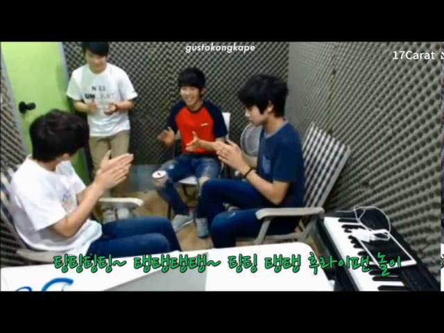 [ENG] Funny Fry Pan Game - Woozi, Coups, Mingyu, Hosh