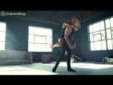 Эмоциональный танец парня с девушкой.очень красиво