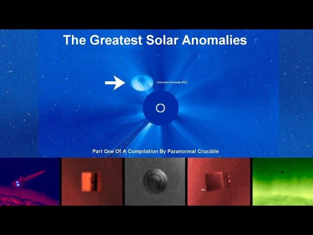 Huge UFO Mothership Caught Near The Sun