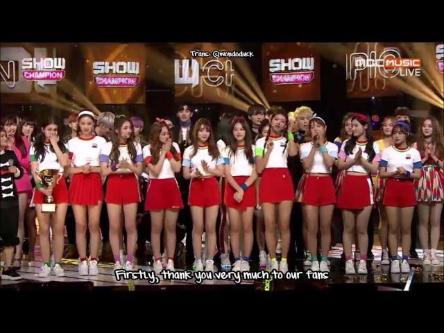 [ENG SUB] 161026 Show Champion - I.O.I 1st OT11 Winning Speech