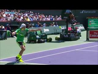Federer Feeling The Backhand Hot Shots In Indian Wells 2017