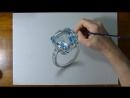 Реалистичное кольцо с аквамарином. How to draw a 3D aquamarine ring by Marcello Barenghi