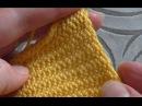 изнаночная гладь крючком СОЕДИНИТЕЛЬНЫЕ СТОЛБИКИ slip stitch crochet