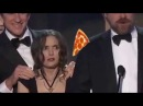 Winona Ryder Distracted By Flying Pizzas During SAG Awards Win