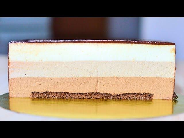 Муссовый торт Три шоколада ☆ Chocolate mousse cake