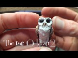 HOW TO -- Polymer clay 112th dollhouse scale Barn Owl