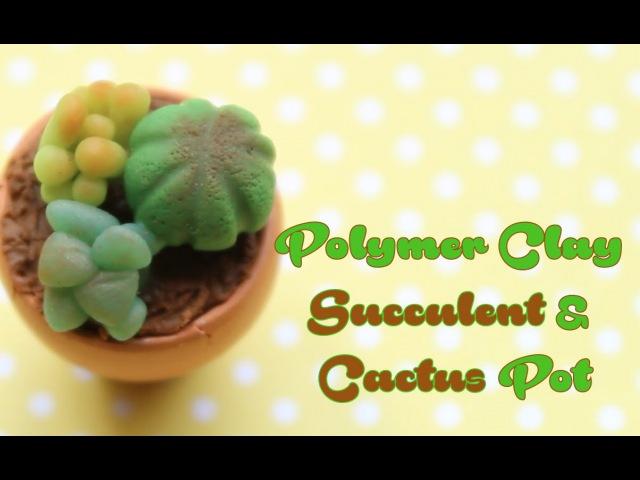 Polymer Clay: Succulent Cactus Pot