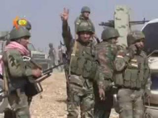 IS terrorist bomb vest detonates near Kurdish fighters outside Mosul.