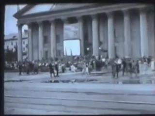 Уникальная любительская кинохроника, улица Богдана Хмельницкого, Новосибирск, 1958